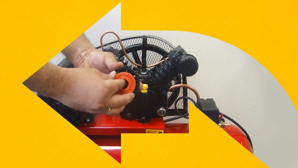 Troca do filtro do compressor de ar
