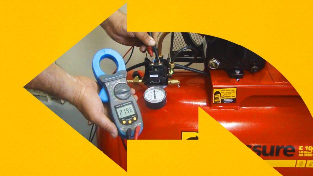 Como medir a voltagem do compressor