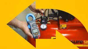 Passo a passo para medir a voltagem do seu compressor