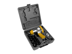Chave pneumática com kit de 17 peças