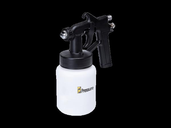 Pistola de pintura pneumática de baixa pressão branca